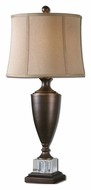 Uttermost 27442 Corvara Oil Rubbed Bronze Finish 33 Inch Tall Transitional Living Room Table Lamp