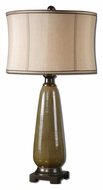Uttermost 27443-1 Albera Textured Olive Glaze 32 Inch Tall Ceramic Table Lamp For Living Rooms