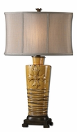 Uttermost 27444-1 Alfiano Yellow Glazed 31 Inch Tall Bedroom Table Lamp