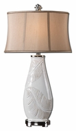Uttermost 27447 Lorida White Glazed 33 Inch Tall Transitional Ceramic Table Lamp