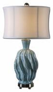 Uttermost 27448-1 Amoroso Faded Blue Ceramic Living Room Table Lamp - 31 Inches Tall