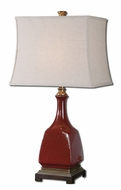 Uttermost 27449 Alzano Aged Red 30 Inch Tall Transitional Pottery Lamp