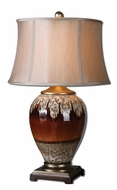 Uttermost 27450 Alluvioni Glossy Rust Bronze 29 Inch Tall Table Top Lamp