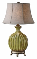 Uttermost 27454 Carentino Aged Green 33 Inch Tall Transitional Ceramic Table Lamp