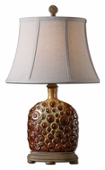 Uttermost 27456 Laika Beige Dripped Brown Glazed 24 Inch Tall Living Room Table Lamp
