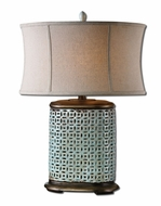 Uttermost 27475-1 Rosignano Aged Blue Glaze 29 Inch Tall Transitional Table Lighting