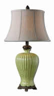 Uttermost 27476 Morbello Cracked Antique Green Ceramic Table Lamp Lighting - 30 Inches Tall