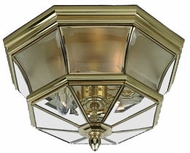 Quoizel NY1794B Newbury outdoor ceiling lamp fixture in polished brass