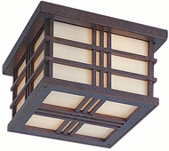 Feiss OL1813-WP Prairie House 2-light 5 inch Outside Ceiling Light in Weathered Patina