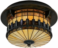 Quoizel TFAR1615BE Autumn Ridge Tiffany Outdoor Ceiling Light