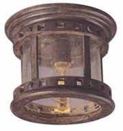 Maxim 3130CDSE Santa Barbara Single Light Cast Aluminum Outdoor Flush-mount Ceiling Fixture