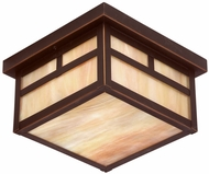 Troy CIH5855OB Monterey Craftsman Outdoor Flush Mount Ceiling Fixture - 9.5 inches wide