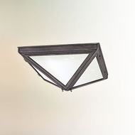Troy CF3200 Bermuda Fluorescent Pewter Traditional Pyramid Flush Lighting