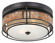 Quoizel MCLG1612RC Laguna 12 Inch Diameter Small Outdoor Flush Mount Lighting - Renaissance Copper