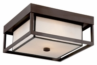 Quoizel PWL1613WT Powell 13 Inch Diameter Outdoor Western Bronze Flush Lighting