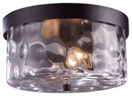 ELK 42253/2 Grand Aisle Flush Mount 2 Light Hazelnut Bronze Ceiling Light Fixture - 11 Inch Diameter