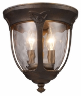ELK 08180-HB Windsor Flush Mount Hazelnut Bronze 10 Inch Tall Ceiling Light Fixture