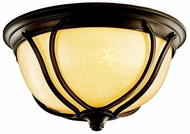 Kichler 49144 Pasadena Outdoor Bronze 12 Inch Diameter Flush Lighting Fixture