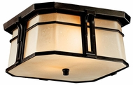 Kichler 49181 North Creek Bronze Flush Mount Craftsman Outdoor Ceiling Lighting