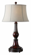 Uttermost 27684 Bevin 33 Inch Tall Solid Wood Turning Table Lamp Lighting