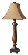Uttermost 29765 Kezia Cinnamon Colored 38 Inch Tall Transitional Wooden Table Lamp