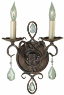 Feiss WB1227-MBZ Chateau Traditional 2-light 12 inch Wall Sconce in Mocha Bronze
