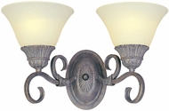 Maxim 8031-SVCR Canyon Rim 2 Light Traditional Wall Sconce