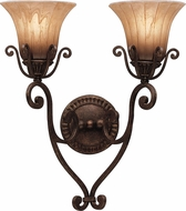 Kichler 6858-CZ Cottage Grove Carre Bronze 2-Light Traditional Wall Sconce