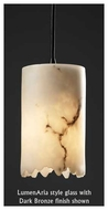 Justice Design 881512 Small Mini Pendant Light with Broken Rim Cylinder Glass