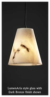 Justice Design 881550 Small Mini Pendant Light with Cone Glass