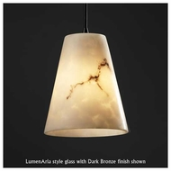 Justice Design 881650 Large Mini Pendant Light with Cone Glass