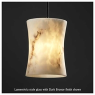 Justice Design 881660 Large Mini Pendant Light with Hourglass Glass