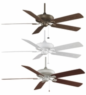 Fanimation Fans TF971 Edgewood Deluxe Wet Location 60  Ceiling Fan in Aged Bronze, Satin Nickel, or White Finish