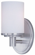 Maxim 9051SWSN Cylinder Satin Nickel Wall Light Sconce