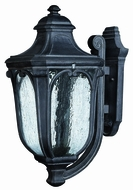 Hinkley 1315-MB-EST Trafalgar 22 inch outdoor fluorescent wall sconce in Museum Black