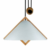 Justice Design 8508 Domus Konus Beech Wood Oriental Pull-Down Ceiling Light
