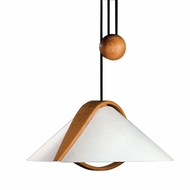 Justice Design 8551 Domus Arta Alder Wood Oriental Pull-Down Ceiling Light