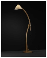 Justice Design 8003 Domus Apollo Beech Wood Oriental Floor Lamp