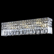 Elegant 2032W18C-RC Maxim Mini 4-lamp Clear Crystal Bathroom Vanity Light Fixture