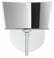 Besa 1SW-6773MR Groove Chrome 9 Inch Tall Contemporary Mirror Glass Wall Light