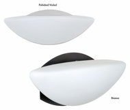 Besa 1wm-231807 Jamie 11 Inch Wide Opal Matte Wall Sconce - Transitional