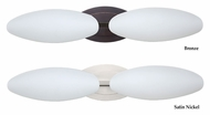 Besa 2wm-272707 Aero  Opal Matte 2 Lamp Vanity Light Fixture - 23 Inches Wide