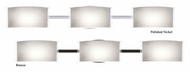 Besa 3wm-673006 Jodi 3 Lamp Modern Opal Glossy Vanity Lighting Fixture - 33 Inches Wide