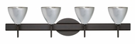 Besa 4SW-1779 Mia 4-light Contemporary Vanity Fixture