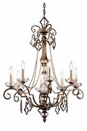 Kichler 42116SRM Gracie Traditional 8-light Crystal and Candle Chandelier