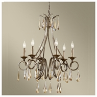 Feiss F26366GIS Reina 6-light Traditional Chandelier Light