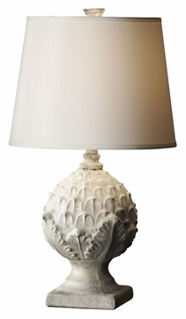 Feiss 10166WWH/GY Garden Relic White Wash Finish 14 Inch Diameter Traditional Living Room Table Lamp
