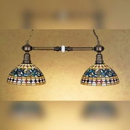 Meyda Tiffany 28509 Tavern 32 Inch Wide 2 Lamp Tiffany Art Glass Kitchen Island Lighting Fixture