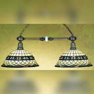 Meyda Tiffany 27408 Roman 2 Lamp Tiffany Art Glass 38 Inches Wide Island Lighting Fixture