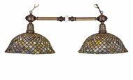Meyda Tiffany 27410 Fishscale 36 Inch Wide 2 Lamp Kitchen Island Lighting Fixture - Tiffany
